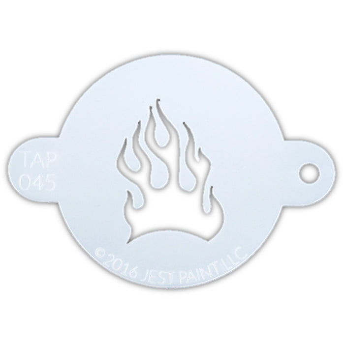 TAP 045 Face Painting Stencil - Fire Flame - Jest Paint Store