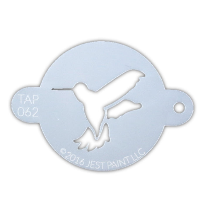 TAP 062 Face Painting Stencil - Humming Bird - Jest Paint Store