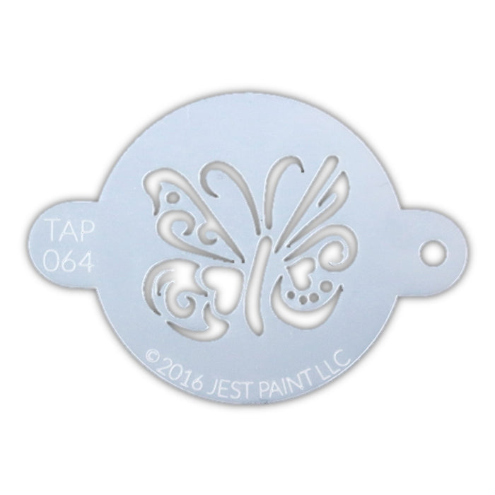 TAP 064 Face Painting Stencil - Ornate Butterfly - Jest Paint Store