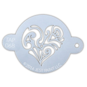 TAP 068 Face Painting Stencil - Ornate Heart