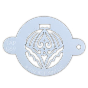 TAP 069 Face Painting Stencil - Large Christmas Ornament