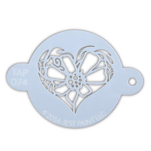 TAP 074 Face Painting Stencil - Flower Heart