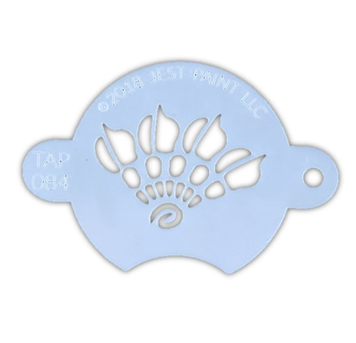 TAP 084 Face Painting Stencil - Henna Fan - Jest Paint Store
