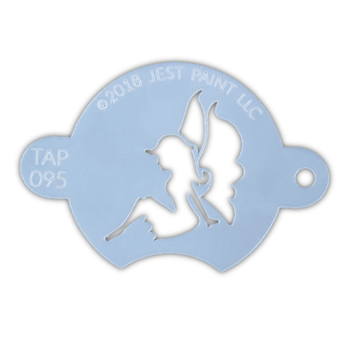 TAP 095 Face Painting Stencil - Sitting Sweet Fairy - Jest Paint Store
