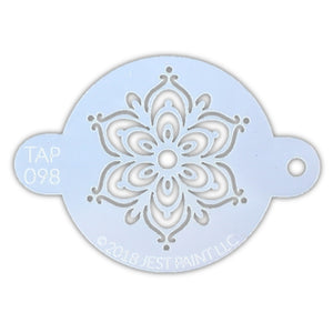 TAP 098 Face Painting Stencil - Full Henna Fancy Flower
