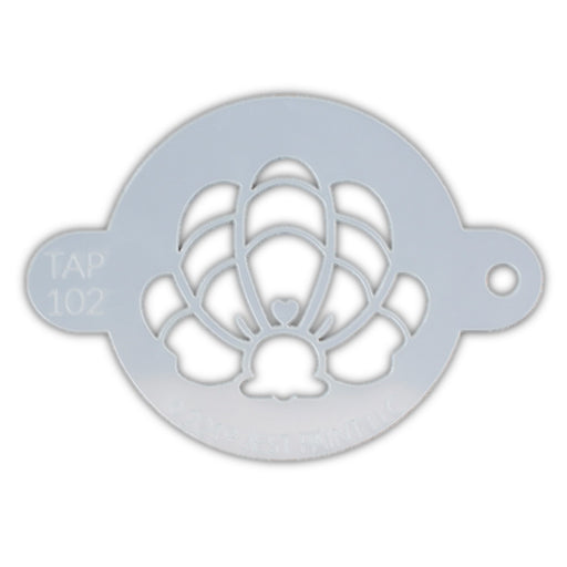 TAP 102 Face Painting Stencil - Mermaid Crown Clam Shell
