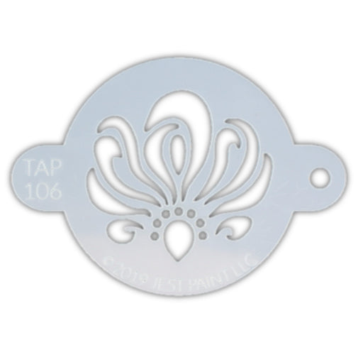 TAP 106 Face Painting Stencil - Swirly Ribbon Centerpiece - Jest Paint Store