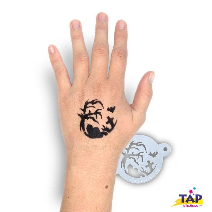 TAP 073 Face Painting Stencil - Halloween Night