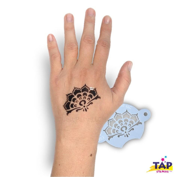 TAP 083 Face Painting Stencil - Henna Crown - Jest Paint Store