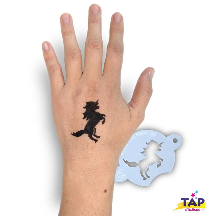 TAP 088 Face Painting Stencil - Prancing Unicorn