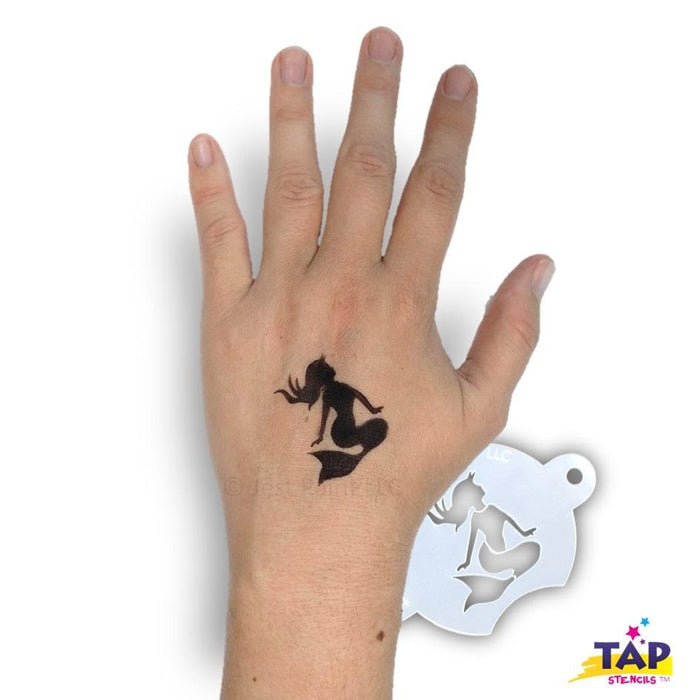 TAP 094 Face Painting Stencil - Sunbathing Mermaid