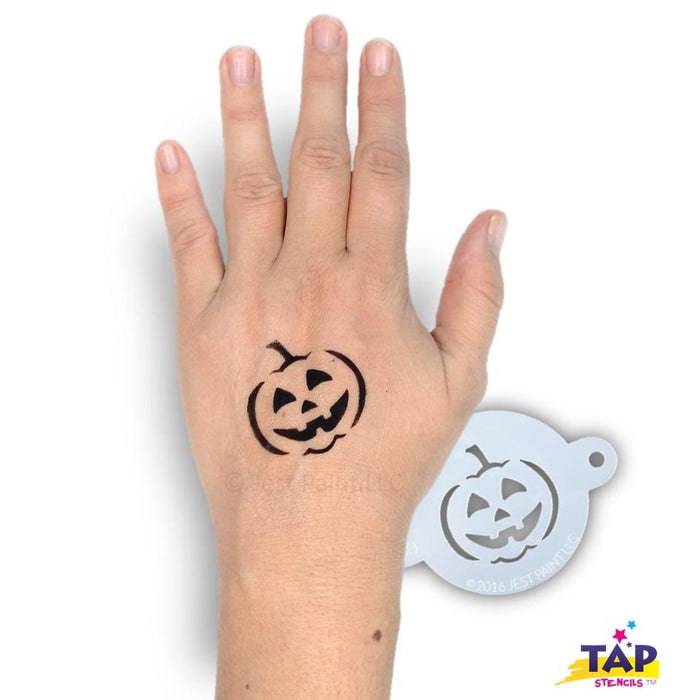 TAP 030 Face Painting Stencil - Jack O'Lantern - Jest Paint Store