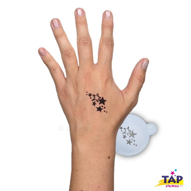 TAP 012 Face Painting Stencil - Stars 1