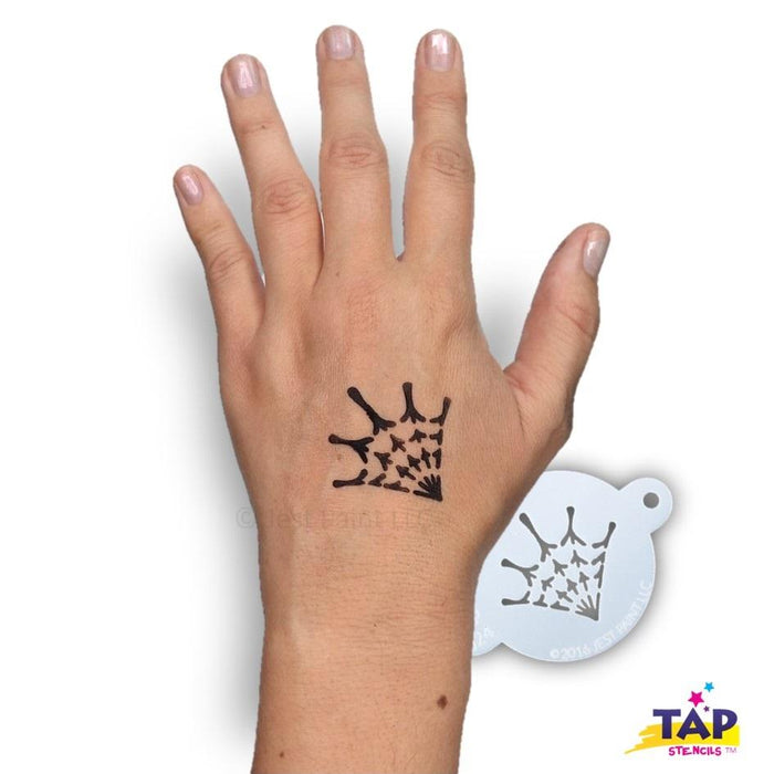 TAP 024 Face Painting Stencil - Spider Web - Jest Paint Store