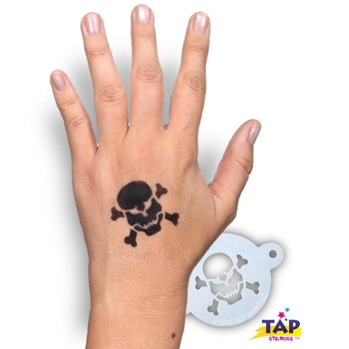 TAP 044 Face Painting Stencil - Skull with Crossbones