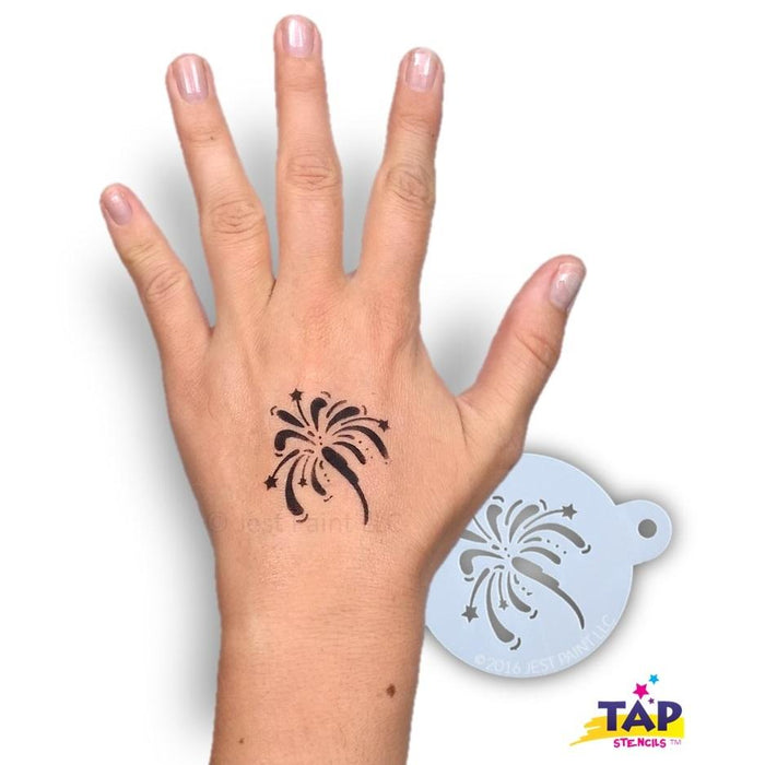 TAP 077 Face Painting Stencil - Fancy Fireworks