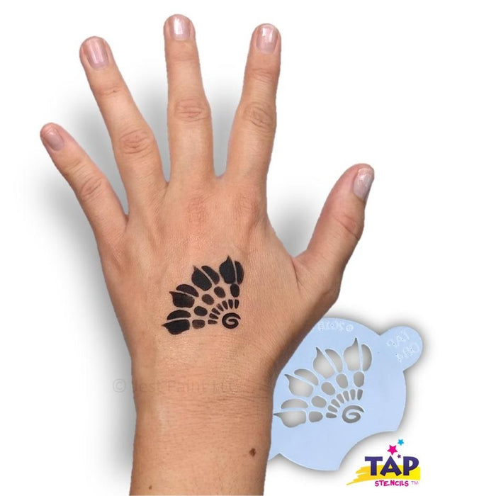 TAP 084 Face Painting Stencil - Henna Fan