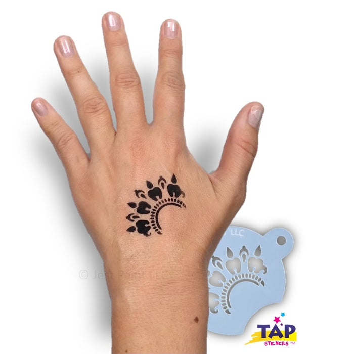 TAP 087 Face Painting Stencil - Henna Crescent