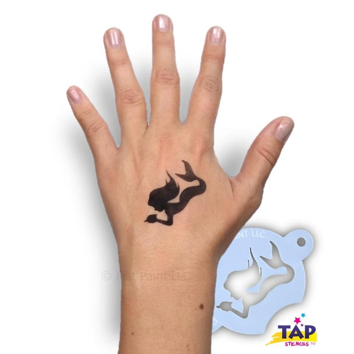 TAP 093 Face Painting Stencil - Mermaid with Shell