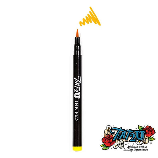 TAT2U Ink Body Art Pen - Yellow (10) - Jest Paint Store