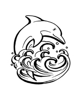 TAT2U Temporary Tattoo Transfers - DOLPHIN - Set of 2 - Jest Paint Store
