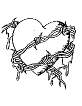 TAT2U Temporary Tattoo Transfers - Heart with Barbwire - Set of 2 - Jest Paint Store