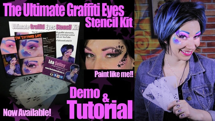 Ultimate Graffiti Eyes Stencil Kit - Jest Paint Store