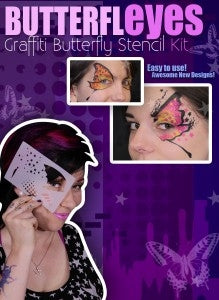 Butterfleyes- Graffiti Butterfly Face Painting Stencil Kit - Jest Paint Store
