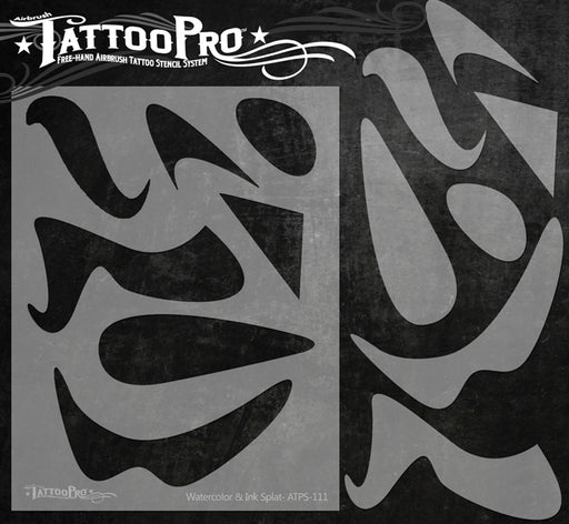 Tattoo Pro 112 - Body Painting Stencil - Freestyle Tools - Jest Paint Store