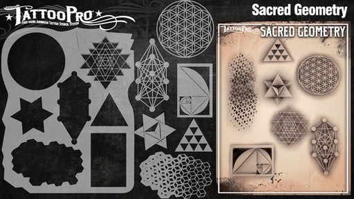 Tattoo Pro 130 - Body Painting Stencil - Sacred Geometry - Jest Paint Store