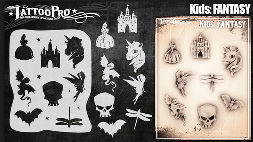 Tattoo Pro KIDS - Body Painting Stencil - Fantasy - Jest Paint Store