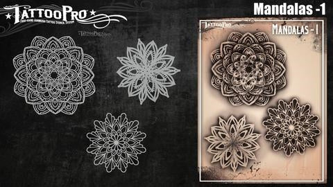 Tattoo Pro 175 - Body Painting Stencil - Mandalas 1