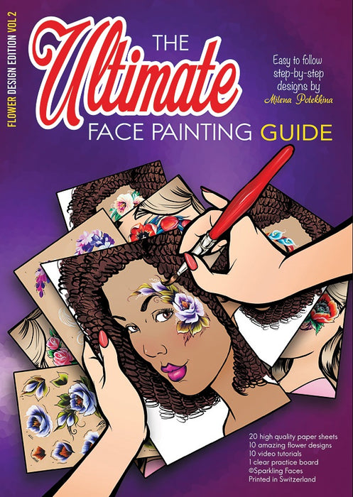 Sparkling Faces | The Ultimate Face Painting Practice Guide - Flower Design Edition - Volume 2 - Jest Paint Store