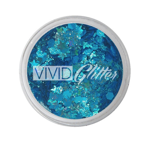 VIVID Glitter | Loose Chunky Hair and Body Glitter - Sapphire Splendor (7.5gr) - Jest Paint Store