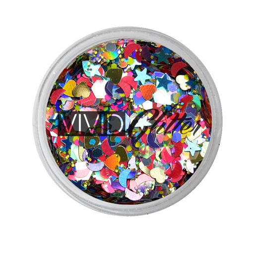 VIVID Glitter | Loose Chunky Hair and Body Glitter | Festivity (7.5gr) - Jest Paint Store