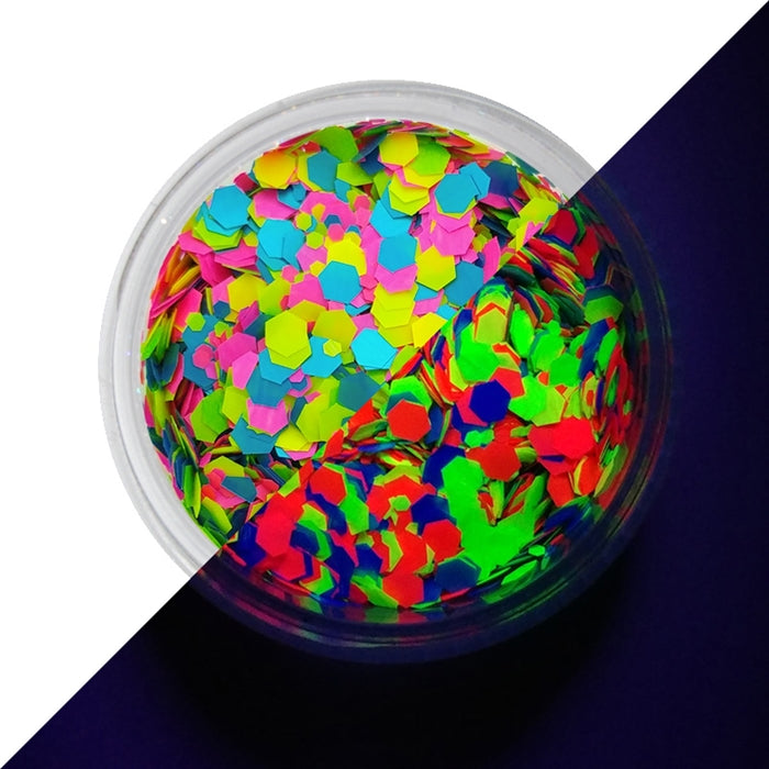 VIVID Glitter | Loose Chunky Hair and Body Glitter | UV Candy Cosmos (7.5gr) - Jest Paint Store