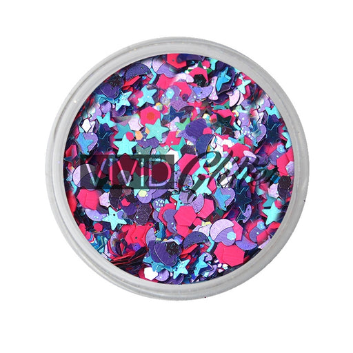 VIVID Glitter | Loose Chunky Hair and Body Glitter | Blazin Unicorn (7.5gr) - Jest Paint Store