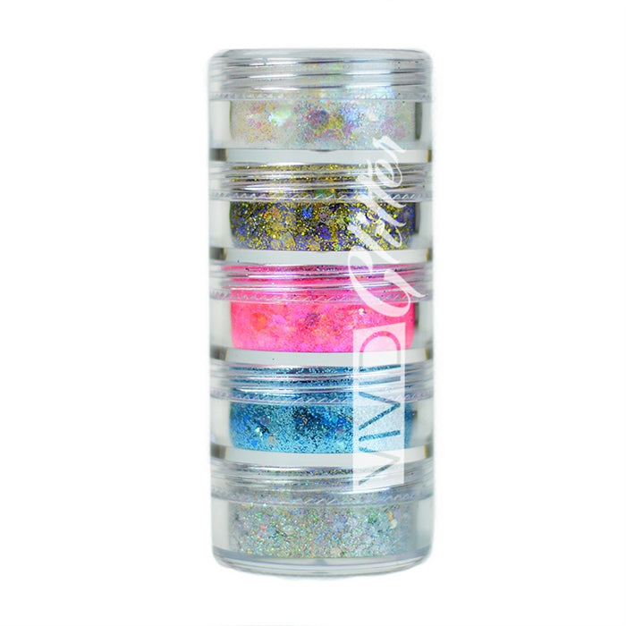 VIVID Glitter | Loose Chunky Hair and Body Glitter | Purity Stack (Set of 5) - Jest Paint Store