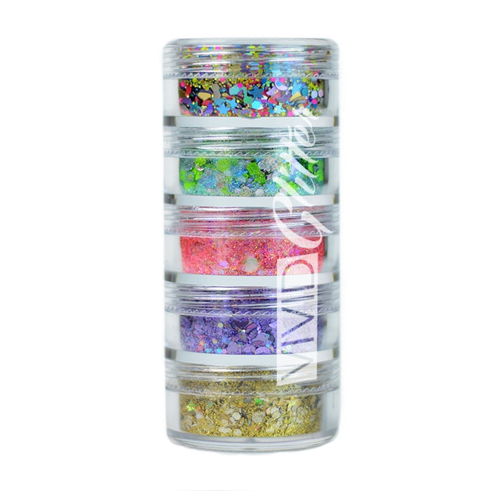 VIVID Glitter | Loose Chunky Hair and Body Glitter | Festivity Stack (Set of 5) - Jest Paint Store