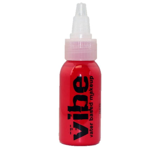 VIBE Water Based Airbrush Body Paint - Standard Red - 1oz
