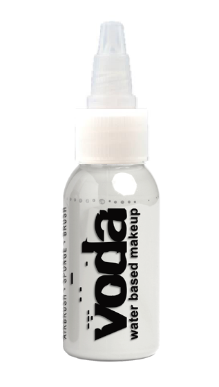 European Body Art | VODA (VIBE) Water Based Airbrush Body Paint - Standard White - 1oz
