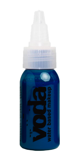 European Body Art | VODA (VIBE) Water Based Airbrush Body Paint  - Standard Blue  - 1oz - Jest Paint Store