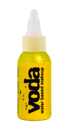 European Body Art | VODA (VIBE) Water Based Airbrush Body Paint - Standard ELECTRIC Yellow - 1oz