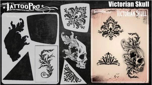 Tattoo Pro | Air Brush Body Painting Stencil - Victorian Skull - Jest Paint Store