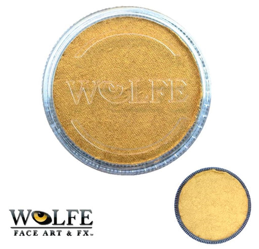 Wolfe FX Face Paint - Metallix Gold 30gr (100) - Jest Paint Store