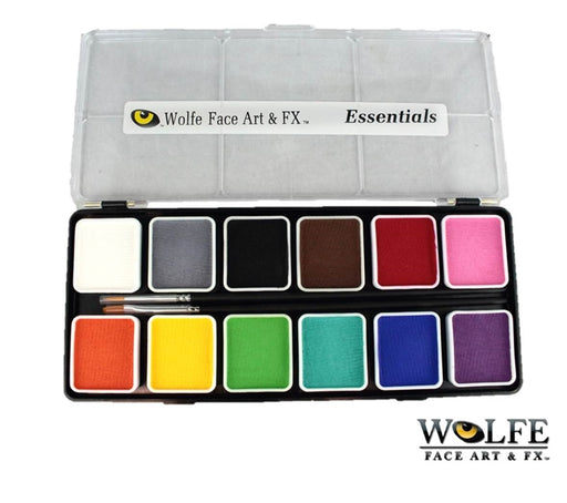 Wolfe FX Face Paint -  Small 12 Color Essential Palette - Jest Paint Store