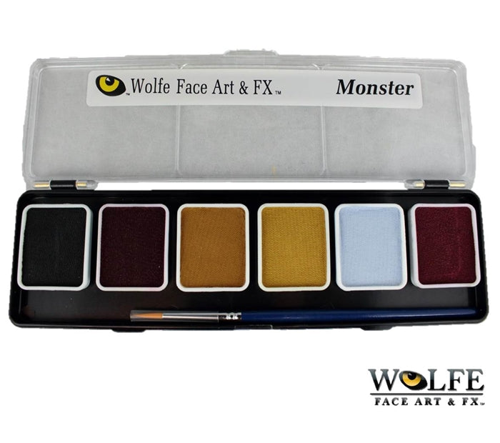 Wolfe FX Face Paint - Small 6 Color Monster Palette - Jest Paint Store