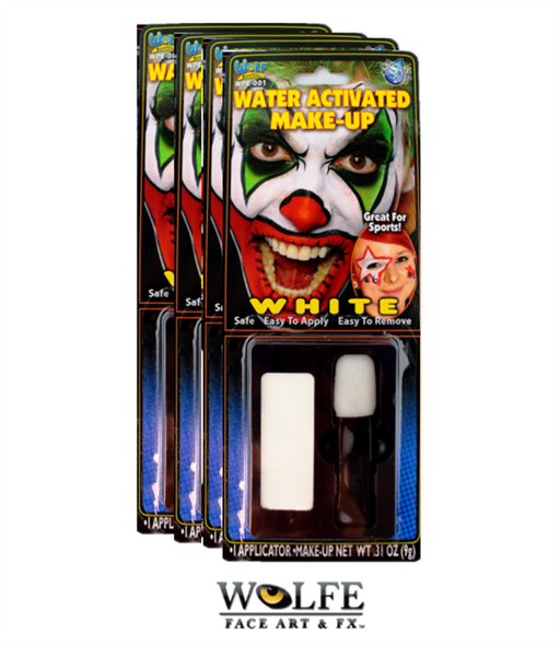 Wolfe FX Face Paint | Essential White - Set of Four 9 gram cakes - Jest Paint Store