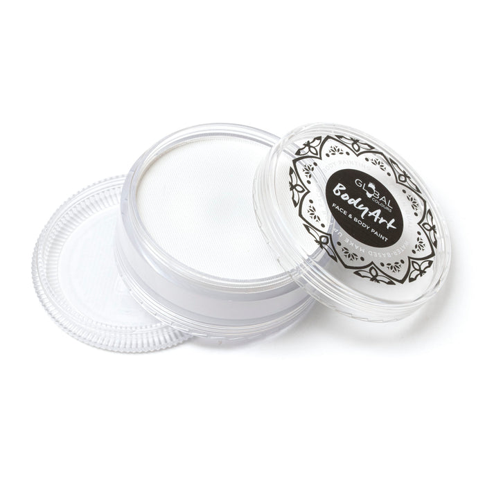 Global Body Art Face Paint | Standard White 90gr parts