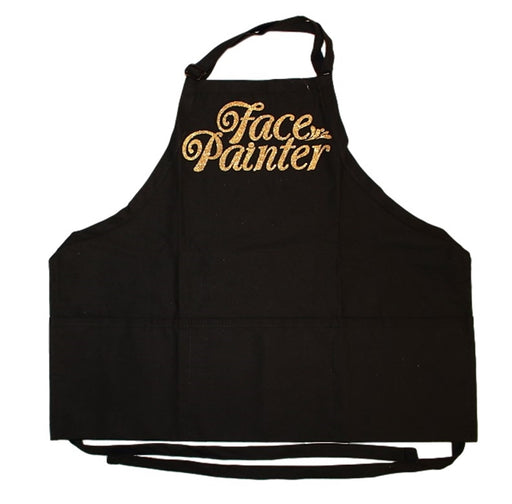 Face Painter Apron - Black with Gold Letters - Jest Paint Store